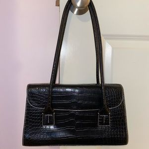 Tommy Hilfiger crocodile shoulder bag